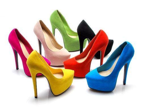 scarpe con tacco alto diversi colori