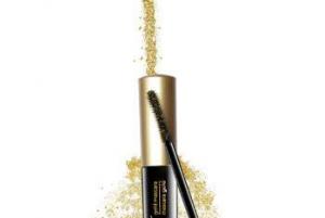 mascara glitterato oro